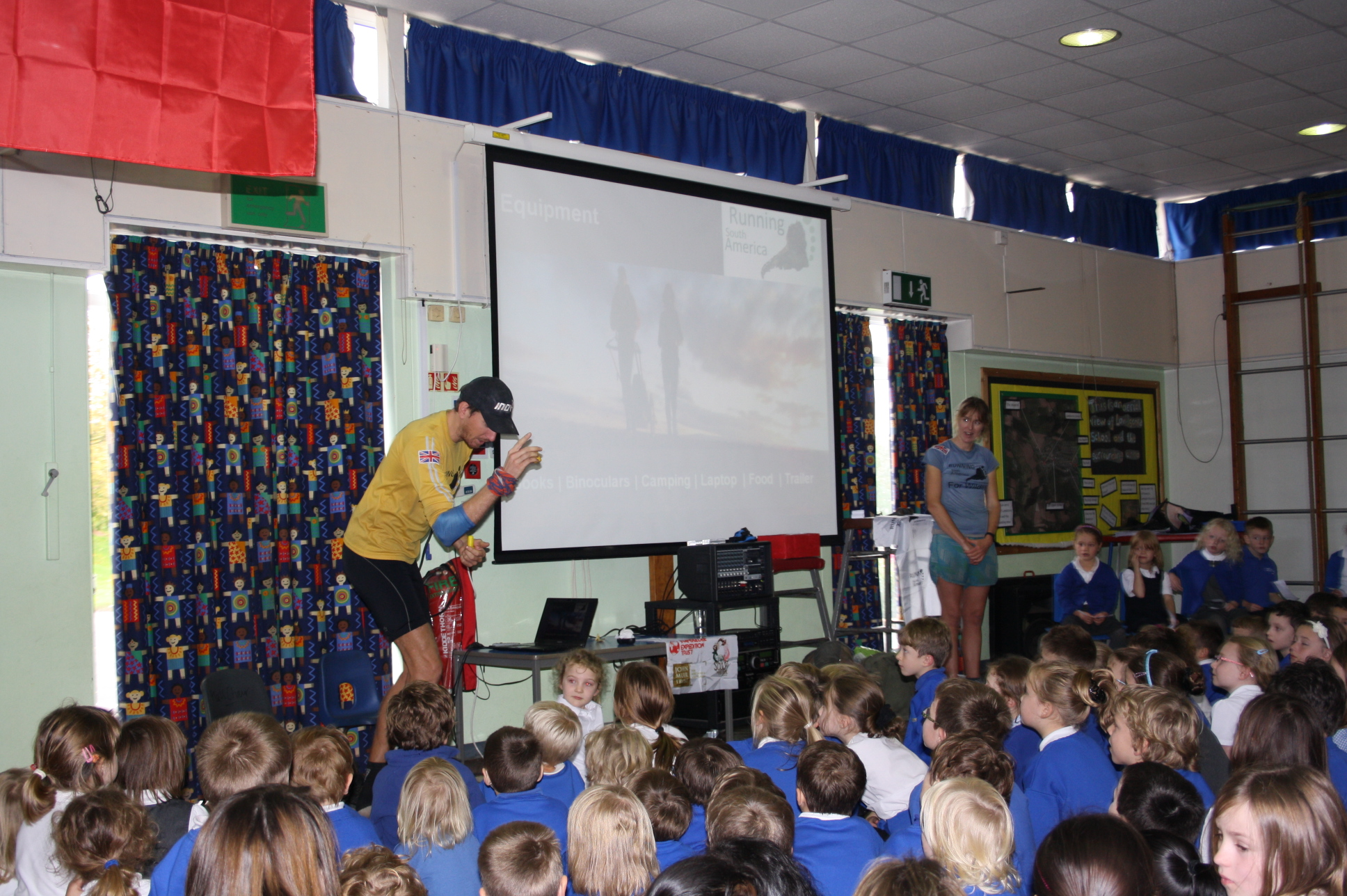 Presenting to Landscore Primary School, Devon