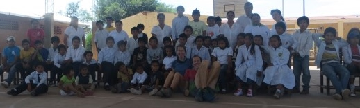 Meeting remote village schools in Bolivia